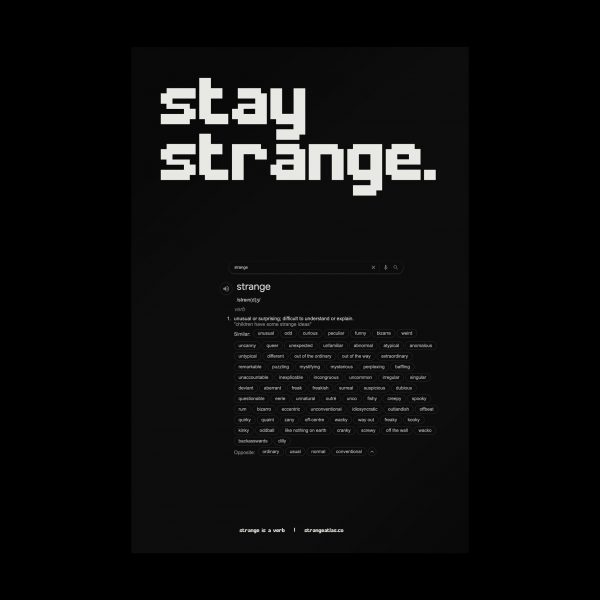 Stay Strange poster